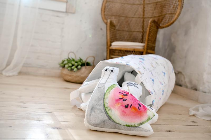 Подушка игрушка Улитка арбуз