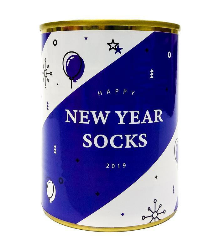 """Консерва- носок """"New Year socks"""" ёлки"""
