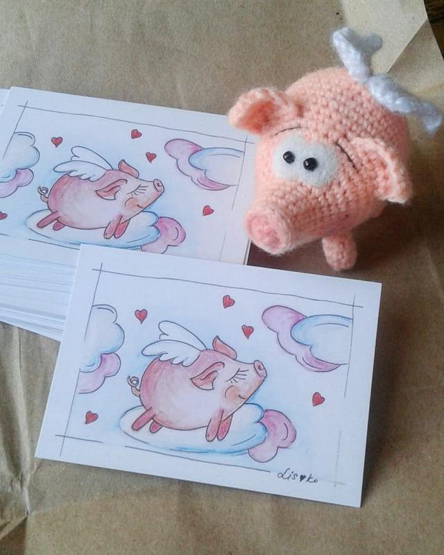 красивостей мониторе свинка открытка из сердечек туристки всё