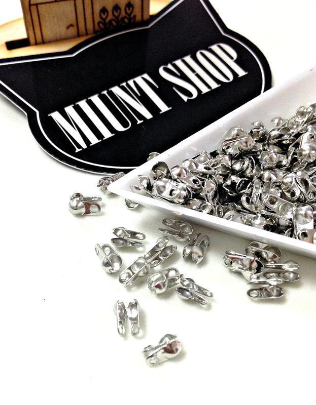 Каллоты (зажимы) для лески/шнура Серебро 2 мм