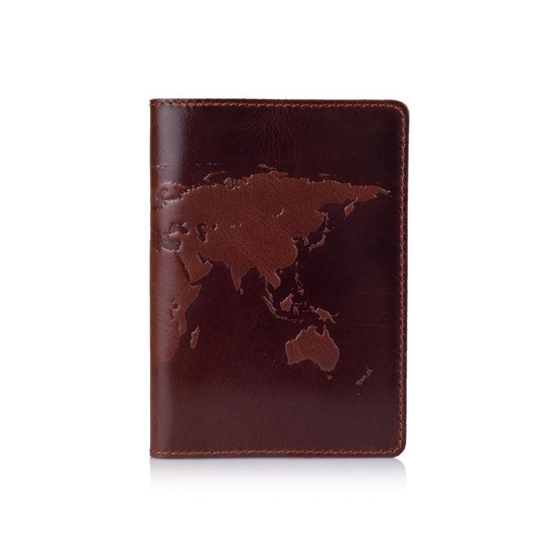 """Обложка для паспорта  HiArt PC-01 Crystal Сognac """"World Map"""""""