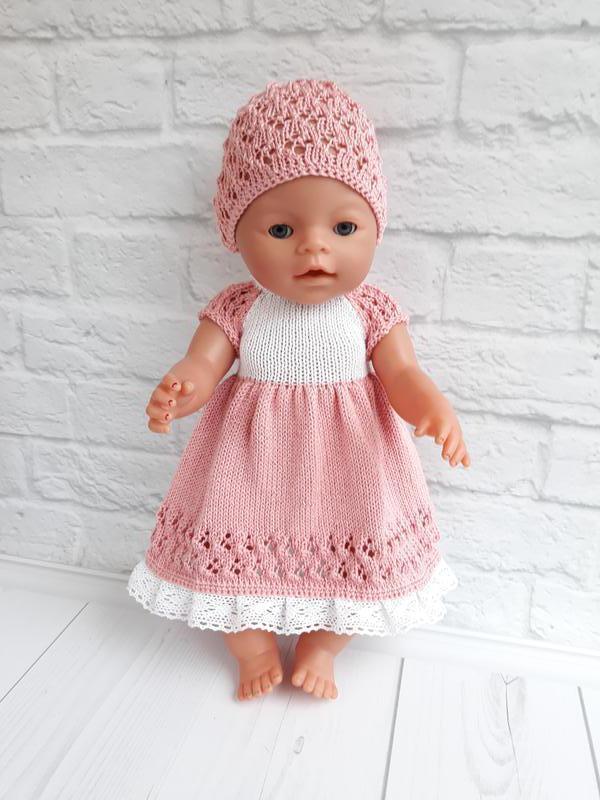 Вязаный комплект на куклу Беби Борн. Одежда на Беби Берна
