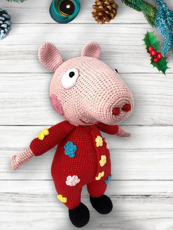 свинка пеппа вязаная игрушка ручной работы купить в украине 332344