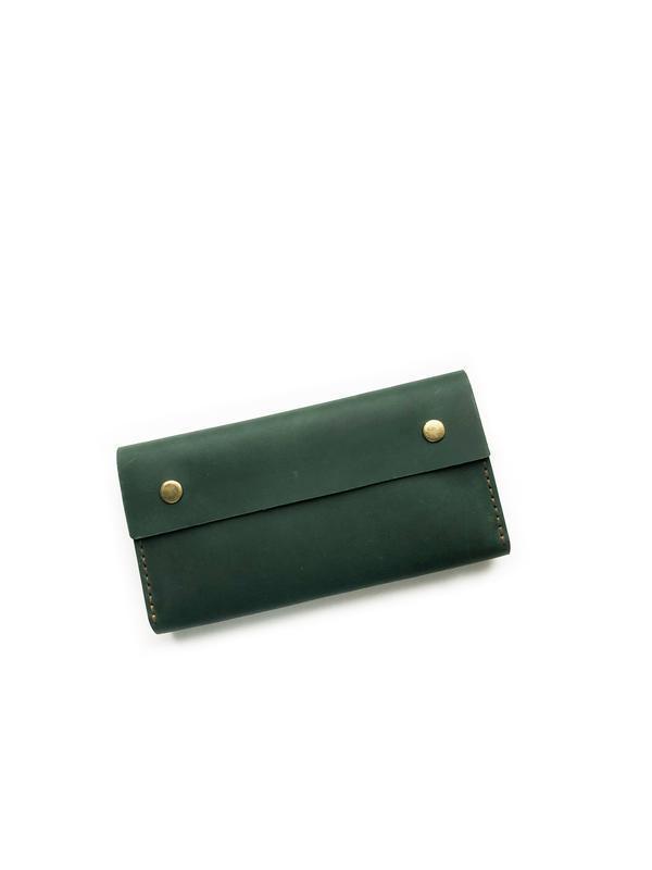 Женский/мужской кожаный кошелек Wallet B4 (зеленый)