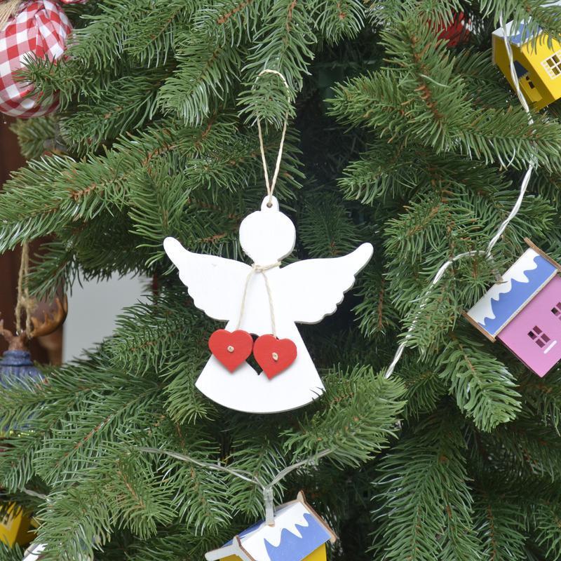 Новогодние игрушки из дерева фанеры Ангел Носок Домик Машинка Лошадка