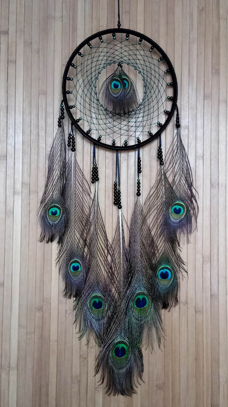 Ловец снов-перо павлина.