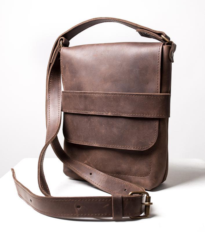 Мужская кожаная сумка Casual Bag через плечо