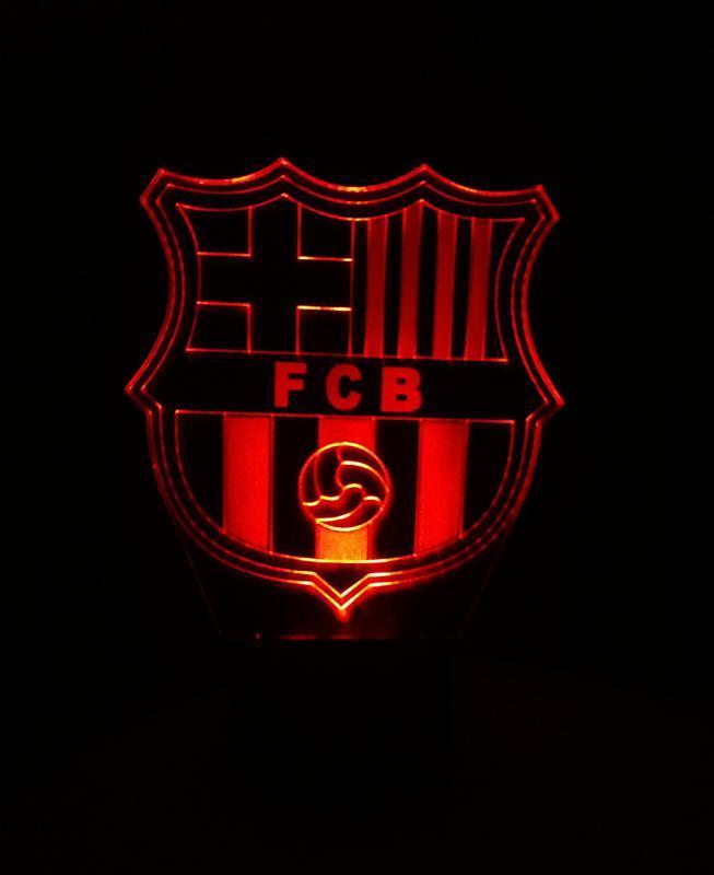 Барселона ФК, ночник лампа светильник, подарок футболисту, спортсмену, футбольная символика