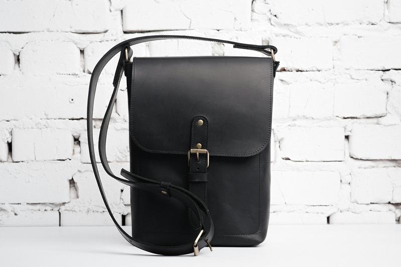 098ce594603b Мужская кожаная сумка Casual BAG II через плечо ручной работы купить ...