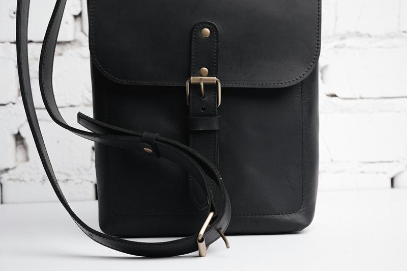 Мужская кожаная сумка Casual BAG II через плечо
