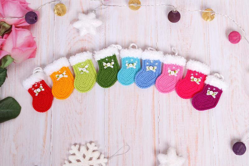 Носочек новогодний подвесной