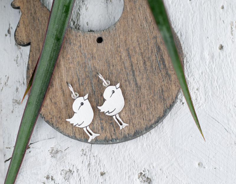 Серебряная подвеска птенчик