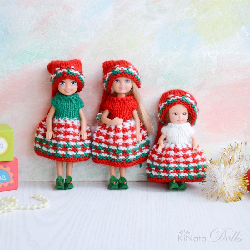 Різдвяна одяг для Челсі (сестрички Барбі)