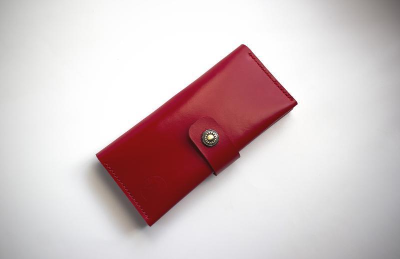 Женский кошелек с молнией из мягкой, гладкой кожи