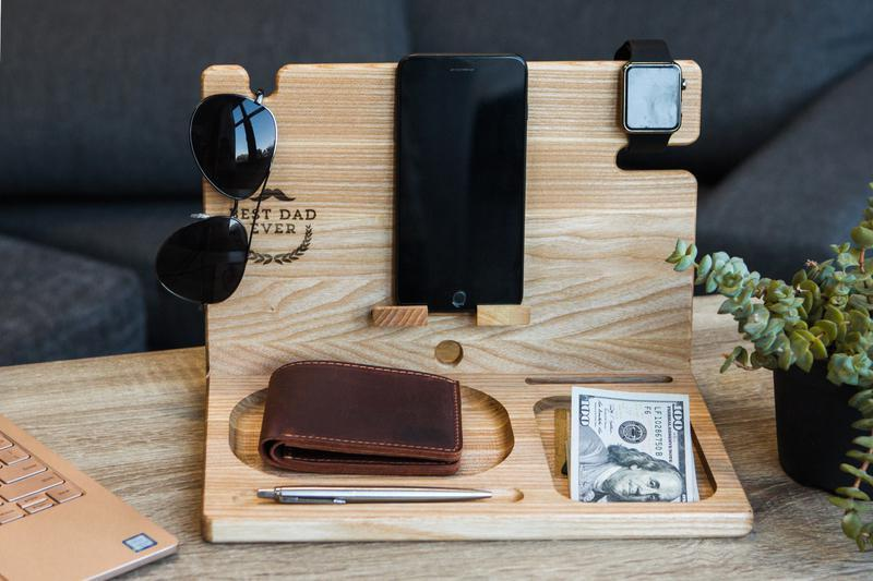 подставка для телефона часов очков из дерева органайзер для визитницы денег офисный декор подарок