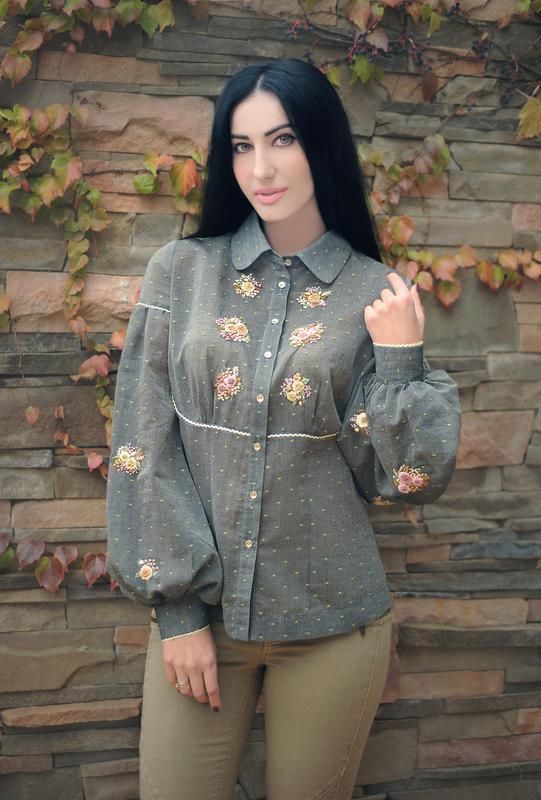 """Вышитая блуза """"Французские розы"""" блуза с вышивкой, вышиванка"""