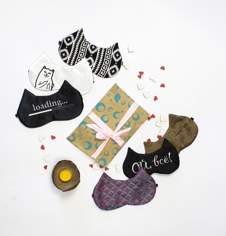 """Маска для сна Sleepy """"Волшебство Цвета"""" с вышивкой + чехольчик в подарок + бесплатная доставка"""