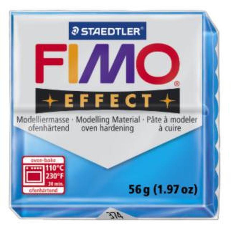 Полимерная глина FIMO Effect, прозрачный голубой (56г) STAEDTLER. 374/8020