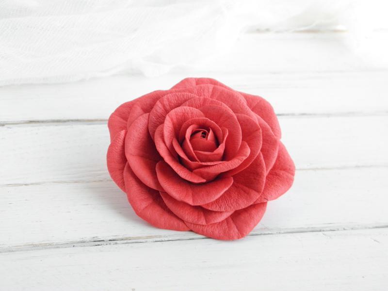 Заколка для волос с цветком розы, Красивые резинки для волос, Подарок на день рождения