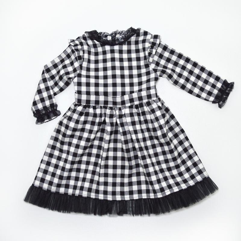 Детское платье в черную клетку bondi kids