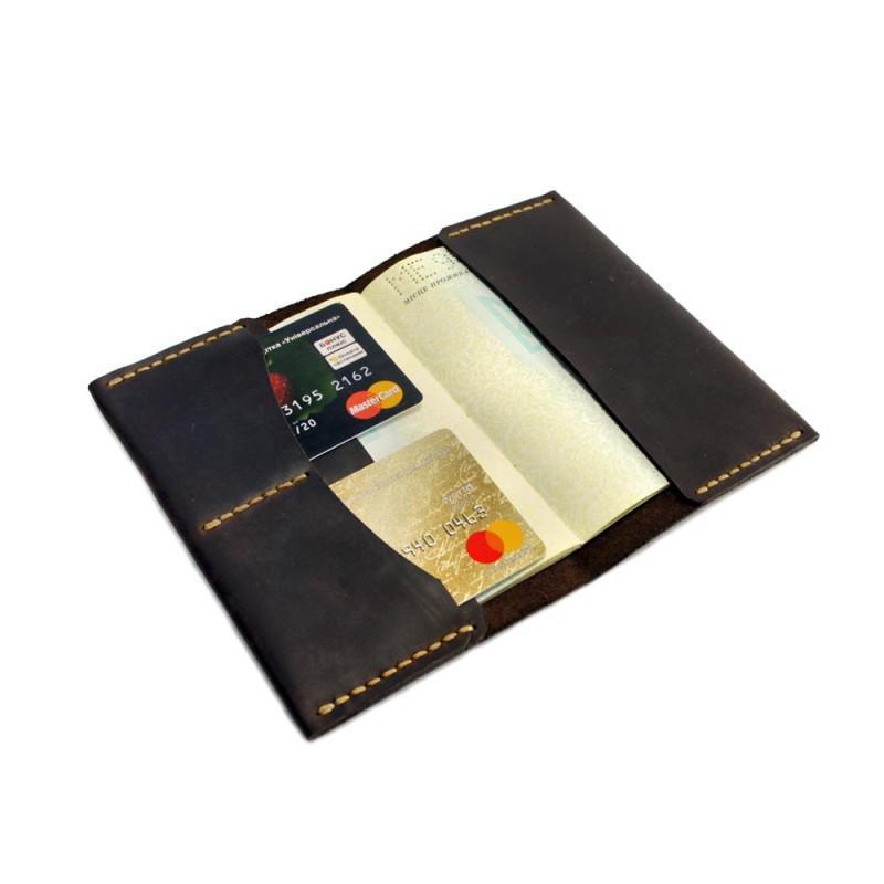 Обложка на паспорт и документы (докхолдер) — коричневая