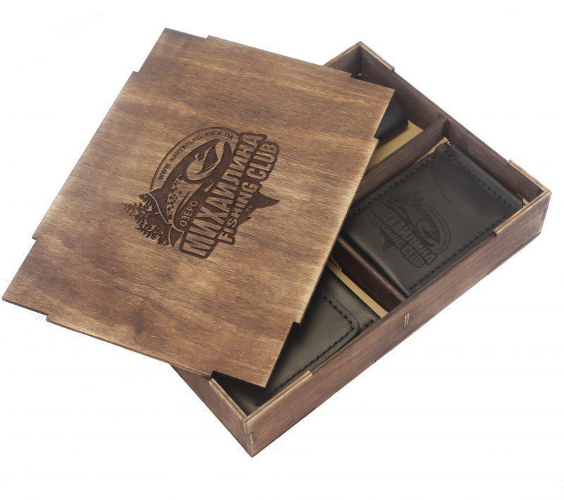 Корпоративный подарок с логотипом Вашей компании — Подарочный набор (Портмоне + Зажим + Ключница)