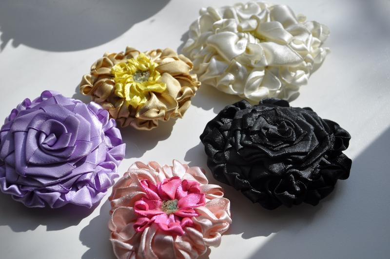 Цветы своими руками из шелковых лент своими руками мастер класс