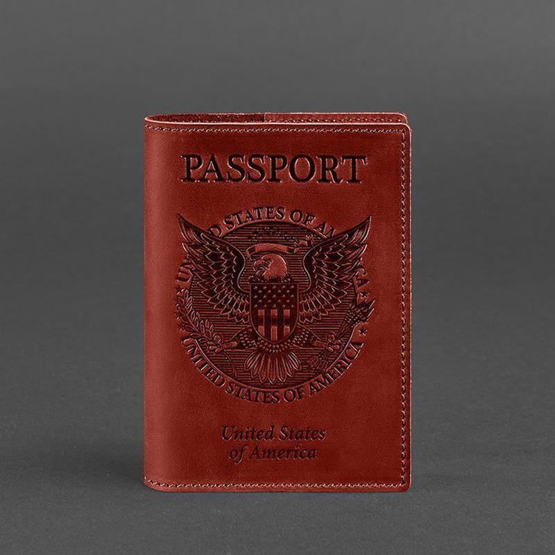 1e9945a3ad38 Обложка для паспорта с американским гербом, коралл ручной работы ...