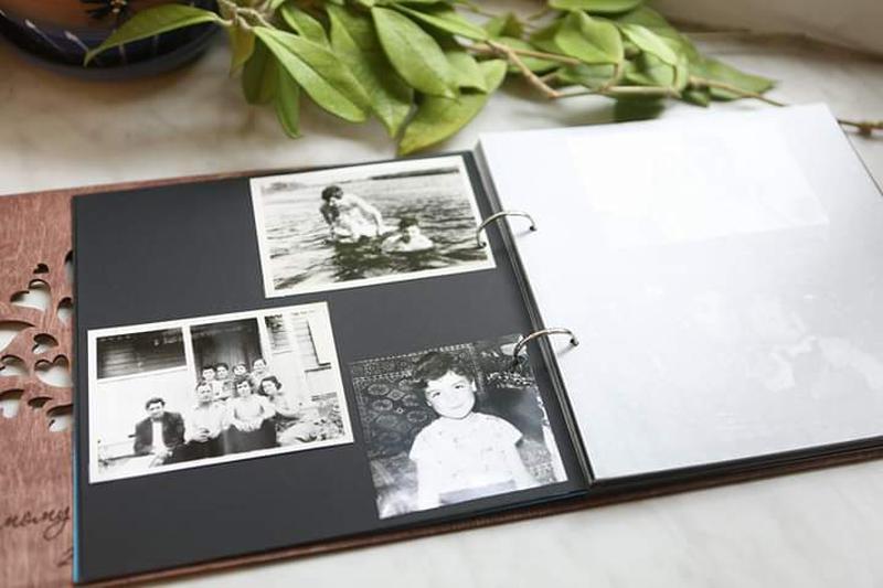 Фотоальбом из дерева на юбилей