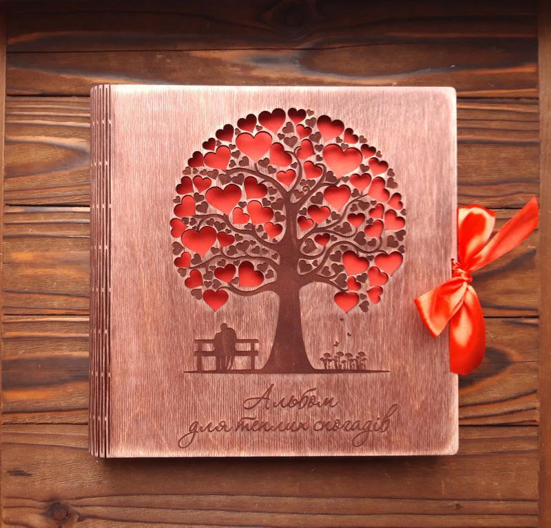 Альбом с деревом и надписями