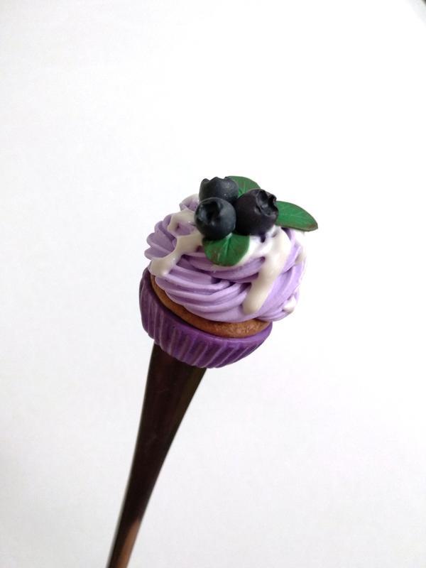 Сладкая ложка. Капкейк. Ложка с декором. Cupcake. Ложка на подарок, сувенир.