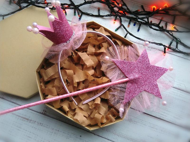 Набор корона и волшебная палочка для девочки