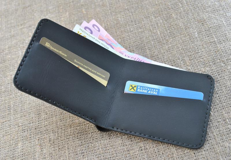Тонкий кожаный кошелек K25-0