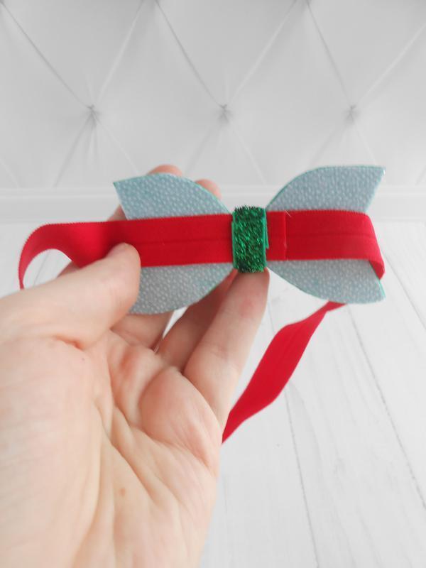 Новогоднее украшение на голову для малышки Повязка с бантиком для девочки Подарок на Новый год