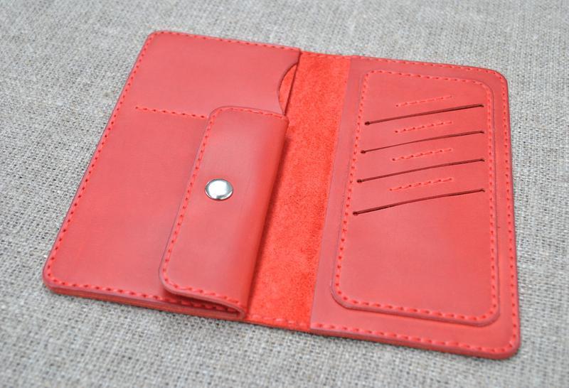 Красный кошелек двойного сложения K08-580
