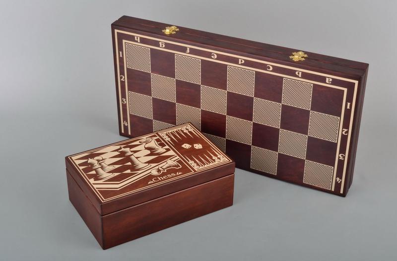 Шахматы с коробкой для фигур