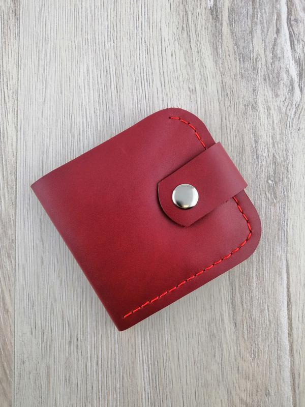 Кожаный кошелёк-портмоне из натуральной кожи