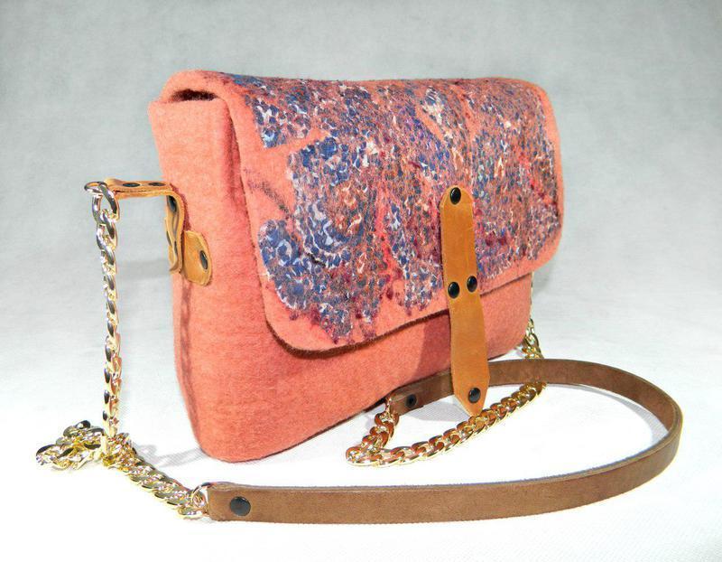 cb9dce89dab8 Сумка валяная Prawn, валяная сумка, бежевая сумка через плечо ручной ...