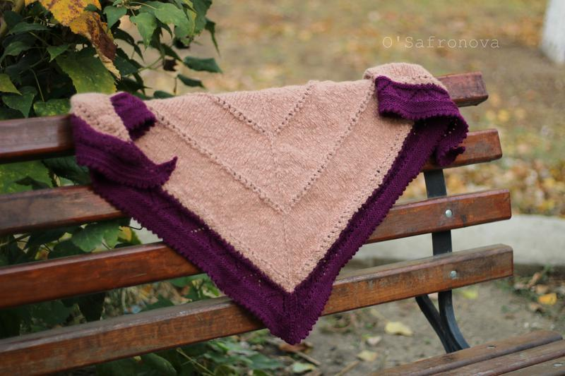 Вязаный теплый платок, бактус