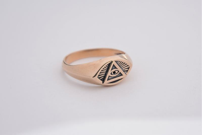 Масонское Кольцо печатка Всевидящее око или лучезарная дельта — масонский символ