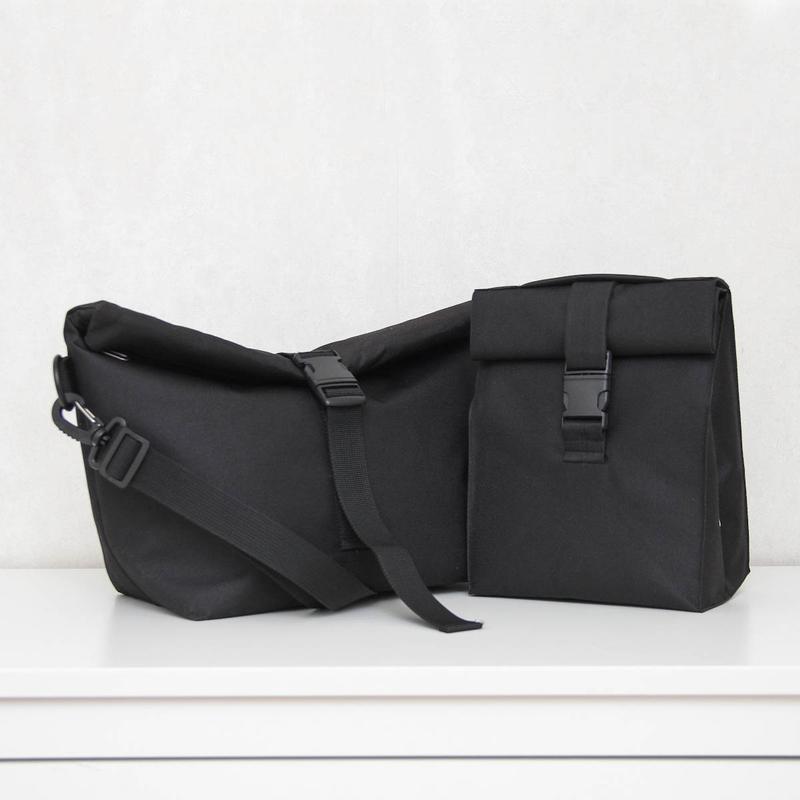 Набор термо сумок lunch bag черный L черный S
