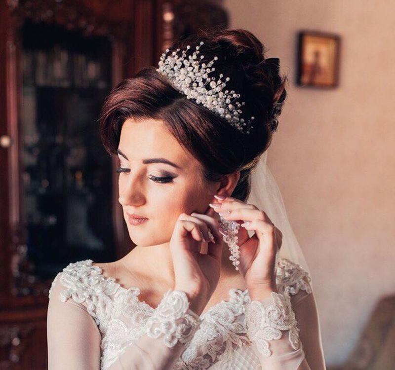 Свадебная диадема, тиара, свадебная корона, ободок в прическу, диадемы для невесты