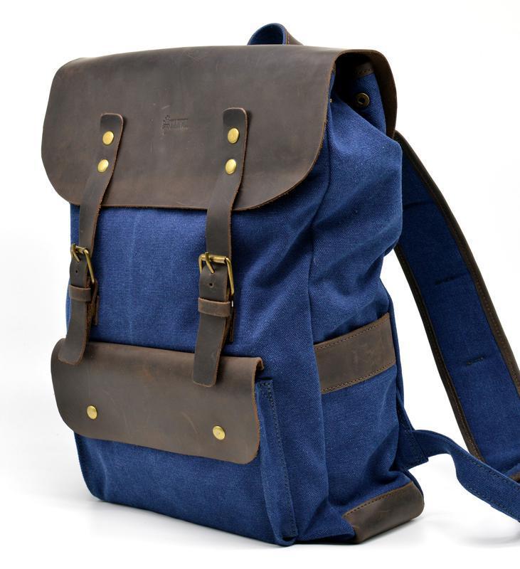 RK-9001-4lx Рюкзак унисекс парусина и кожа RK-9001-4lx бренда TARWA