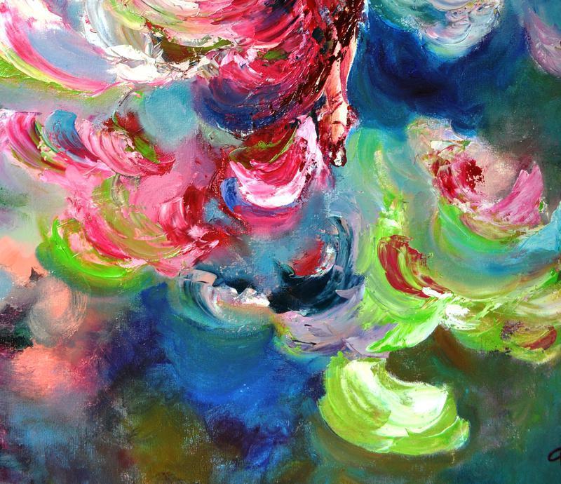 """""""Испанка"""", картина маслом, балерина, картина мастихином, 60х50 см"""