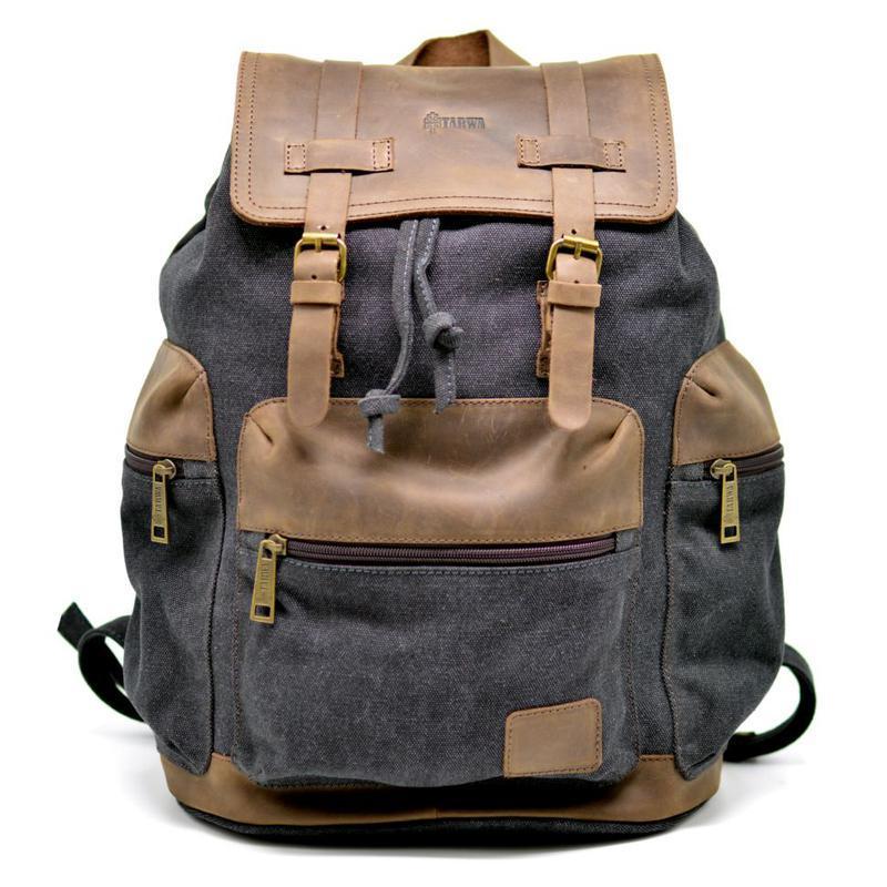 7a65db1ad6ae TARWA 0010 - городской рюкзак из лошадиной ткани и парусины ручной ...