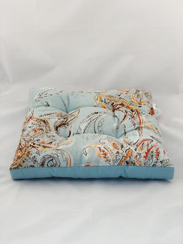 Подушка на стілець. Квадратна подушка. М'яке сидіння. Бірюзова подушка.