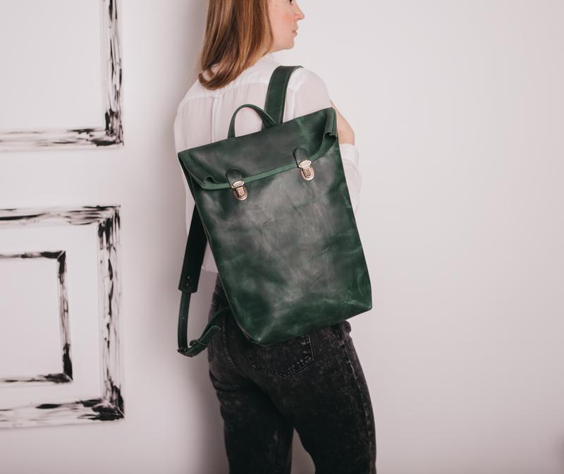 1fe4ad4bc83b Рюкзак POST для ноутбука, рюкзак женский, рюкзак кожаный, городской рюкзак,  шкіряний рюкзак