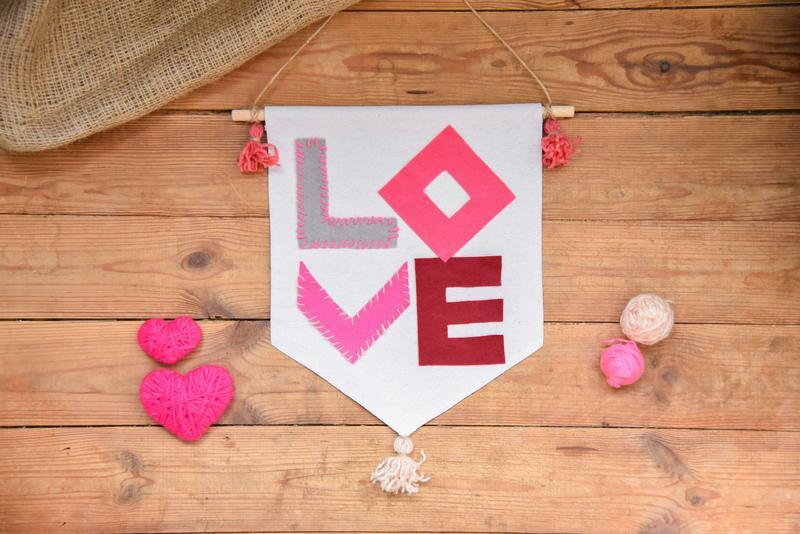 Праздничный баннер, флажок, валентинка, подарок