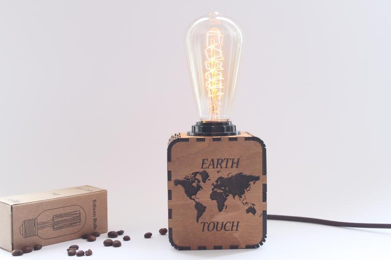 Светильник-ночник в стиле LOFT Индивидуальная гравировка