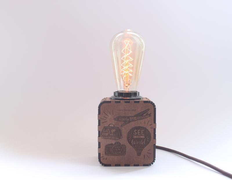 Светильник-ночник Индивидуальная гравировка